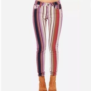 Roxy Brand Striped Skinny Jeans
